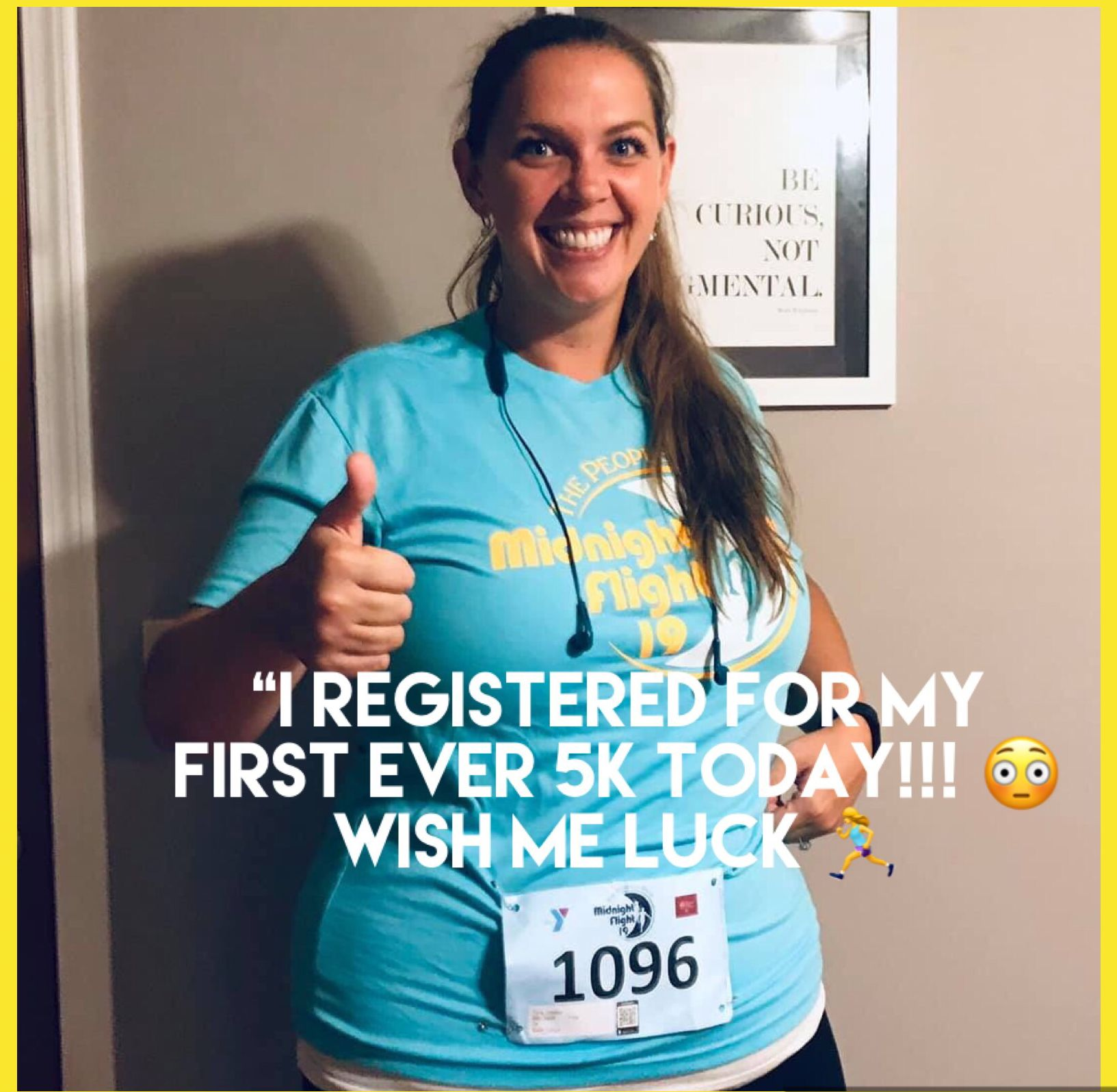 """A Runner Shapes Up A Tired Staircase: """"I Registered For My First Ever 5K Today!!! 😳 Wish Me"""