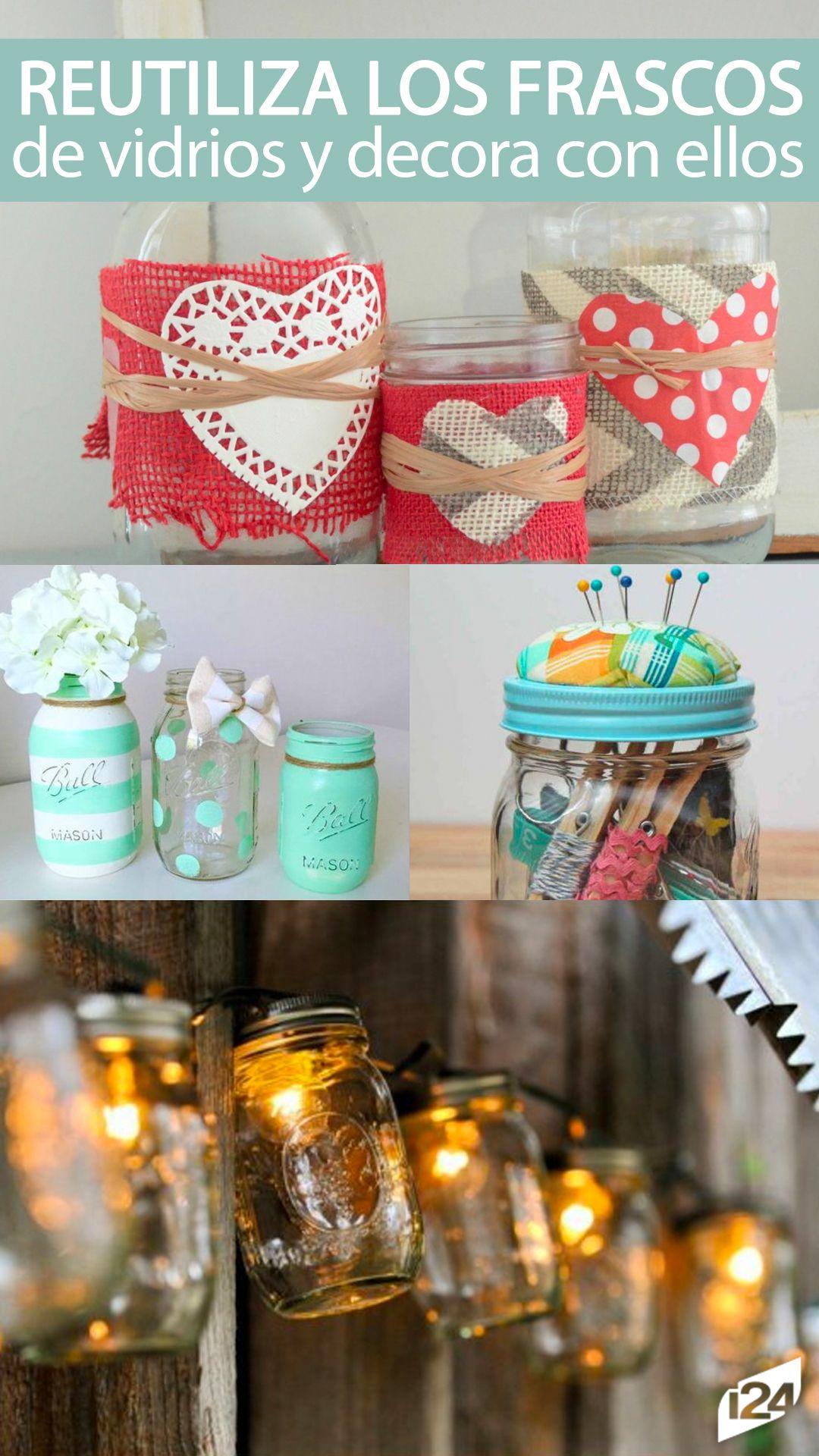 Excelente idea para reciclar y decorar al mismo tiempo #Reciclaje ...