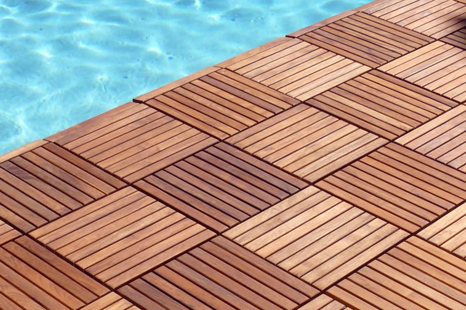 Beautiful Treated Wood Outdoor Flooring Available At Express