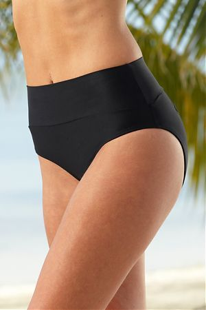 c870c57fb6d These swimsuit bottoms rest at natural waist
