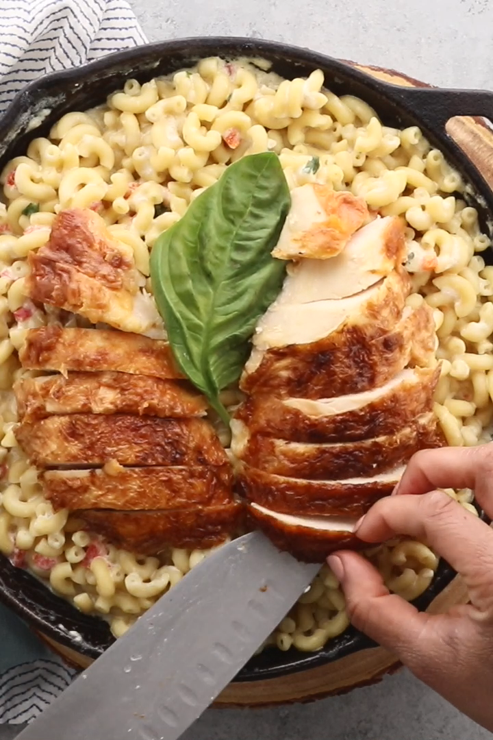 Easy Tuscan Chicken Mac and Cheese