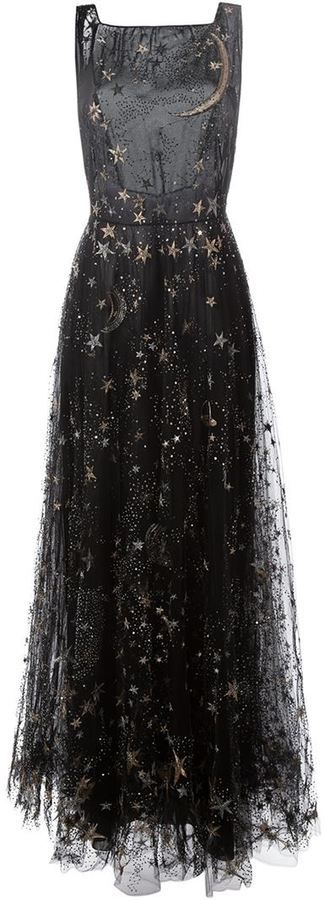 Valentino star and moon embroidered evening dress!!!!!!!!!!!!!!!!!!!!!!!!!!!!!!!!!!!!!!!!!!!!!!!!!!!!!!!!! #coniefox