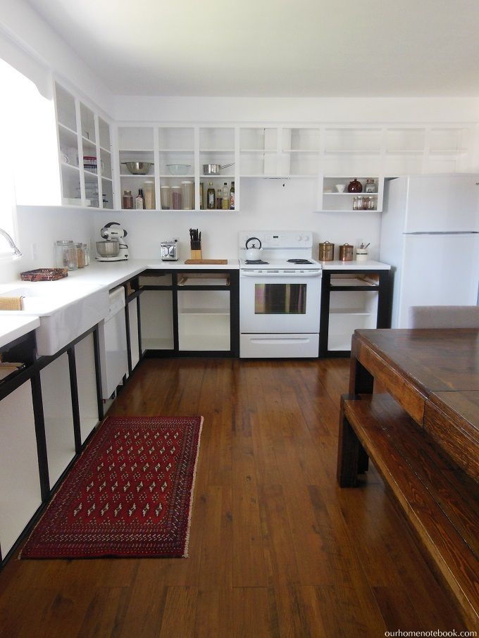 budget kitchen renovation paint  white kitchen