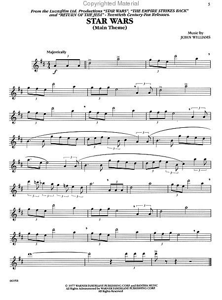 "Beliebt Cantina Band - Alto Sax"" from 'Star Wars' Sheet Music (Alto  YM82"