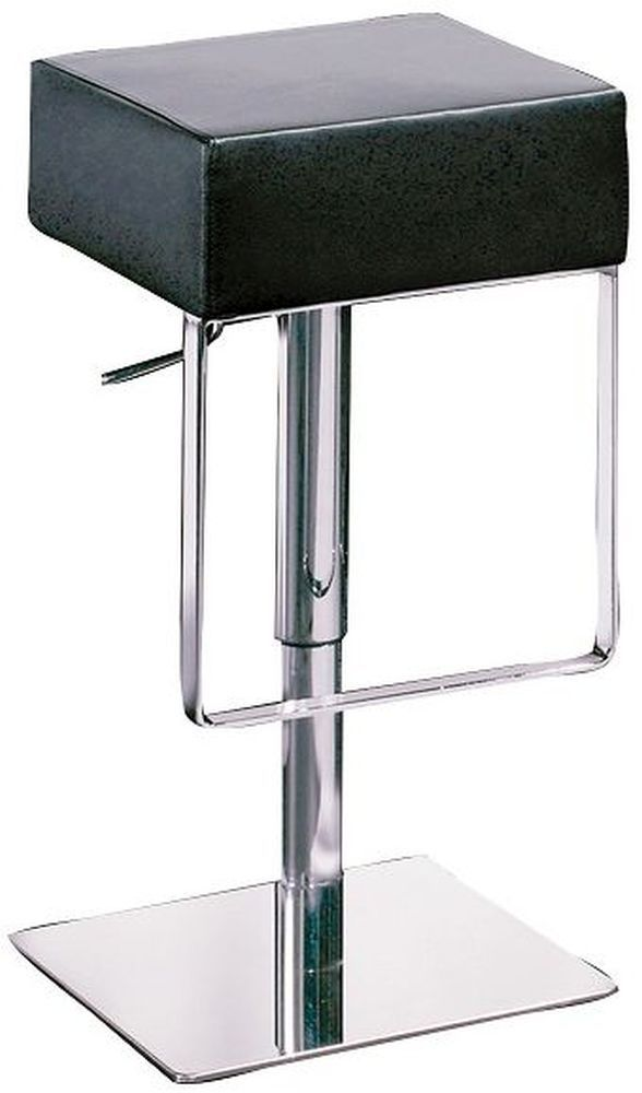 Fine Ben Black Leather Bar Stool With Chrome Base Dan Form Ben Gmtry Best Dining Table And Chair Ideas Images Gmtryco