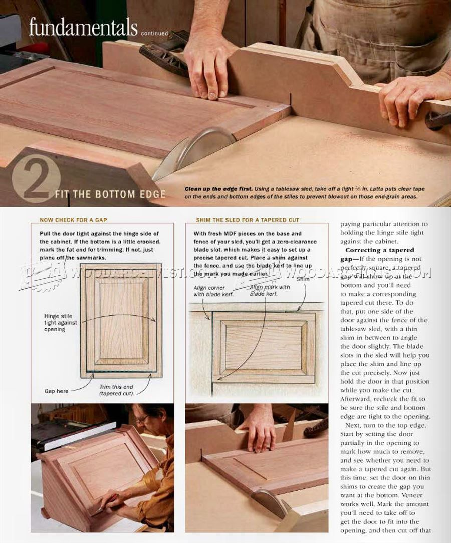 836 Fitting An Inset Door Cabinet Door Construction Woodworking
