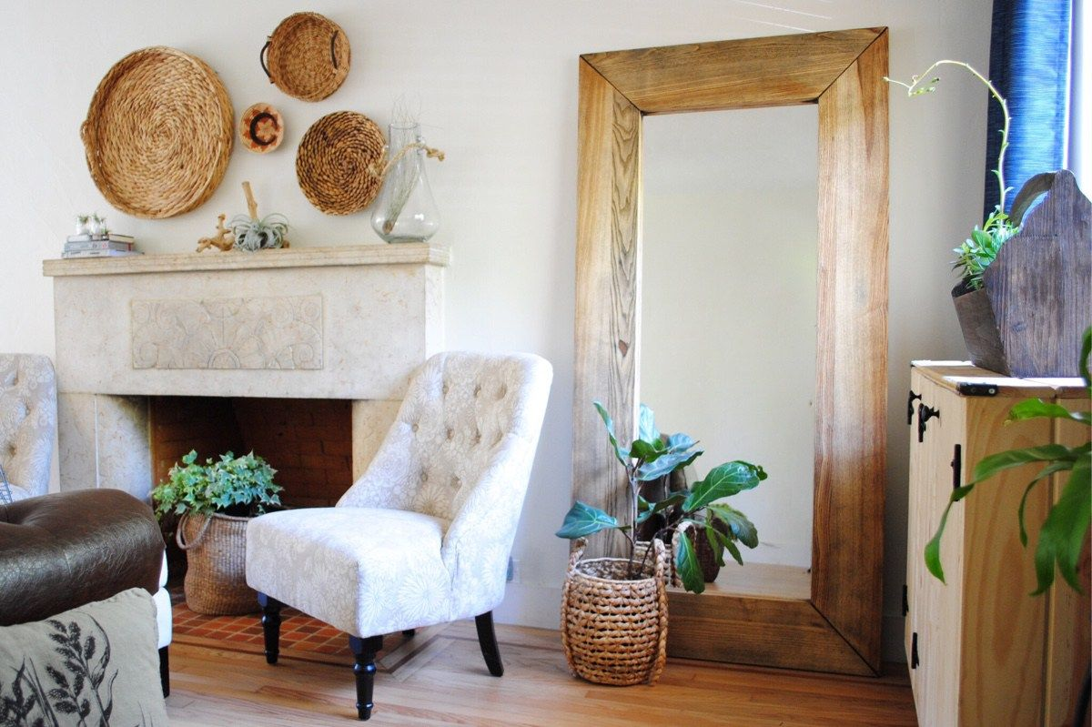 Hallway furniture with mirror  The stain that saved my mirror  Old apartments A thought and To