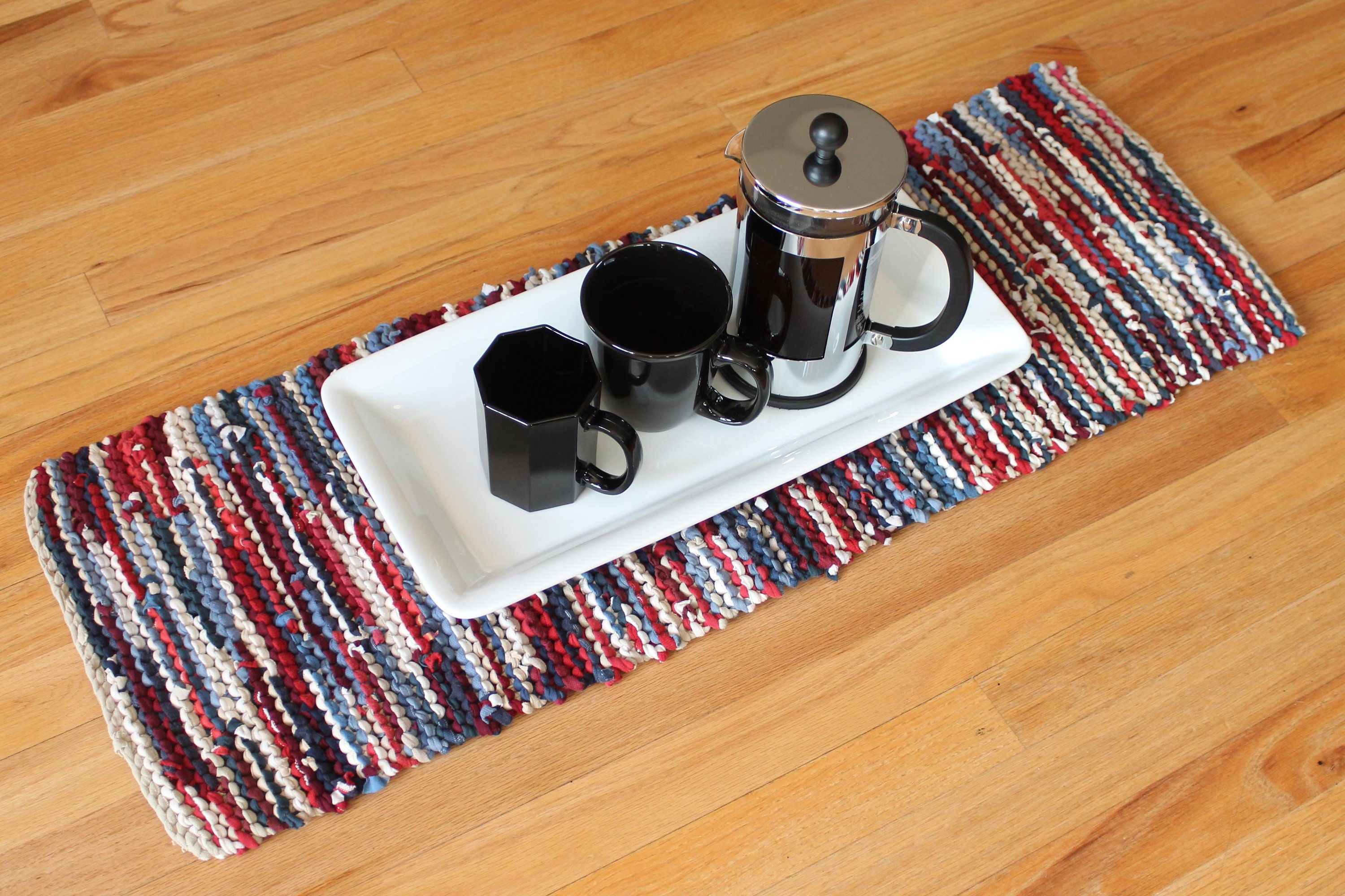 Admirable Americana Table Runner Red White Blue Navy Nautical Cottage Download Free Architecture Designs Intelgarnamadebymaigaardcom