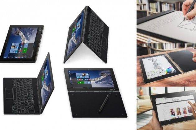 Thin Screen Ful Lenovo Yoga Book Runs On Android Or Windows 10 Lenovo Yoga Book Yoga Books Piano Video