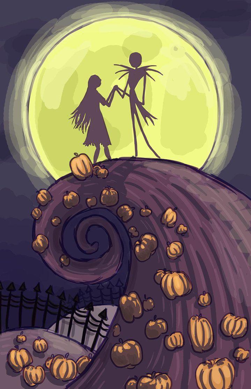 Jack And Sally New Jack And Sally Nightmare Before Christmas Halloween Wallpaper