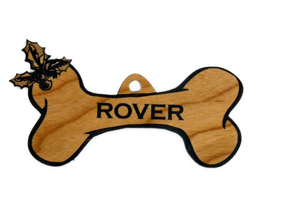 Custom Personalized Wooden Dog Bone Christmas by RedcoIndustries, $9.99