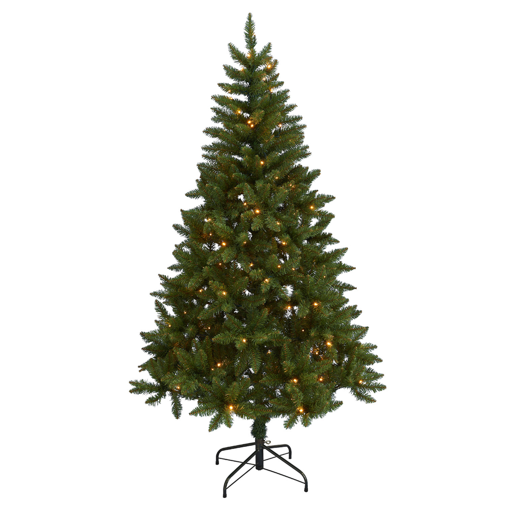 Artificial Pine Green Christmas Tree with 35 Warm White