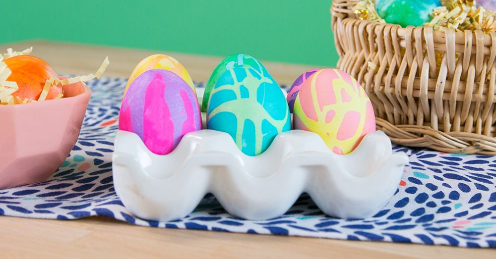 How to dye easter eggs into psychedelic colors easter easter classic food coloring forumfinder Image collections