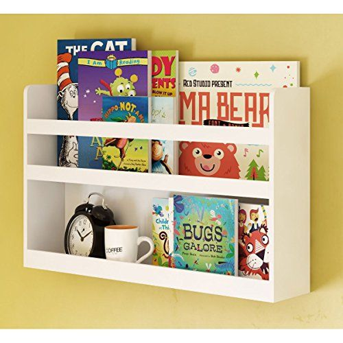 68df2e864c7 Childrens Kids Room Wall Shelf Wood Material Great For Bunk Bed Nursery  Room Books and Toys Organization Storage White   Click for Special Deals