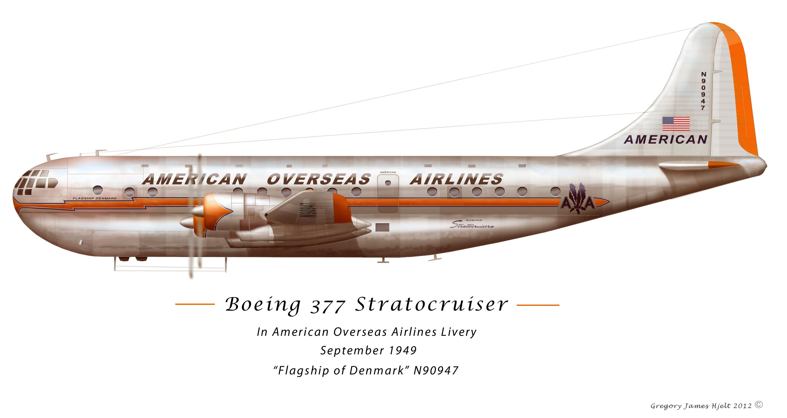 Cutaway of a pan am boeing 377 stratocruiser image from chris sloan - Boeing 377 Stratocruiser