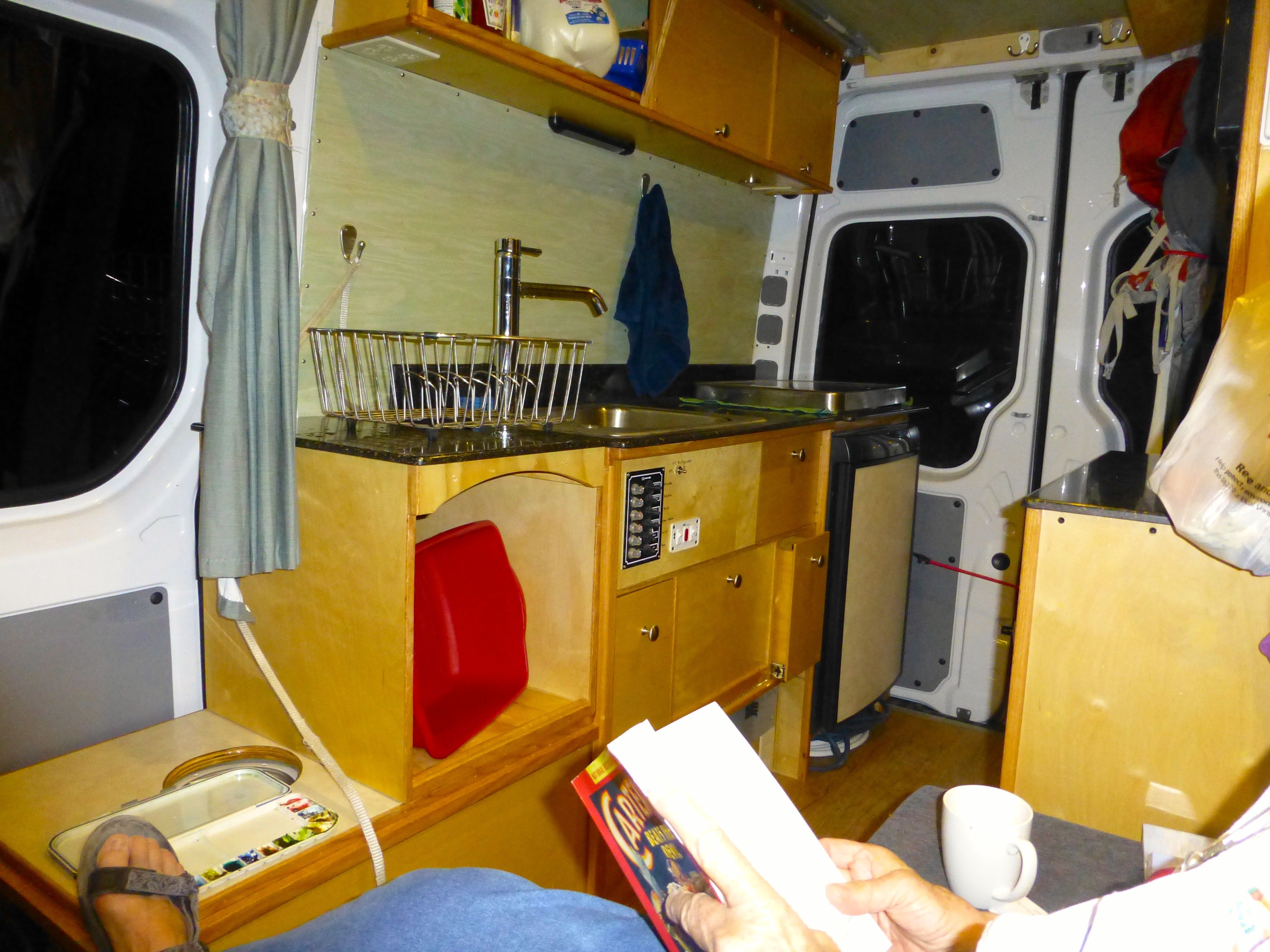 Galley Cabinetry In The Willimann Diy Sprinter Camper Van Photo Urs Willimann Custom Rv