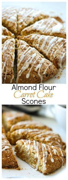 Almond Flour Carrot Cake Scones (Gluten Free, Low Carb)