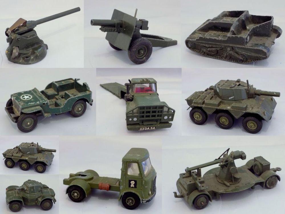 Military Car Lot >> Vintage Job Lot Dinky Corgi Military Diecast Model Tanks