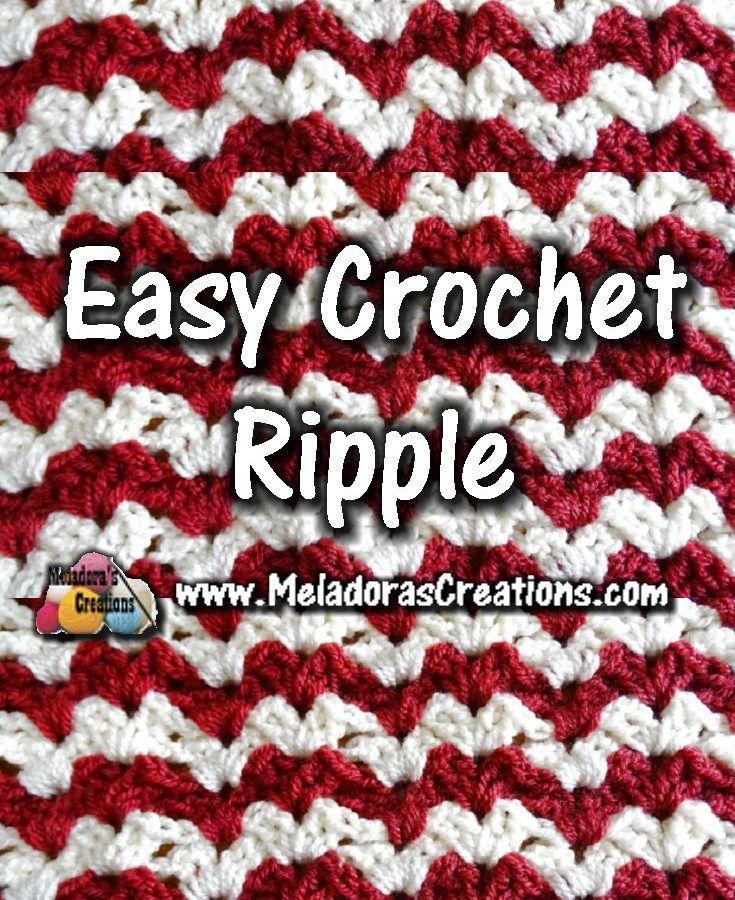Meladoras Creations | Easy Crochet Ripple – Crochet Stitch Tutorials ...