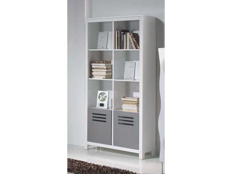 Bibliothèque niches portes atelier blanc et gris vente de