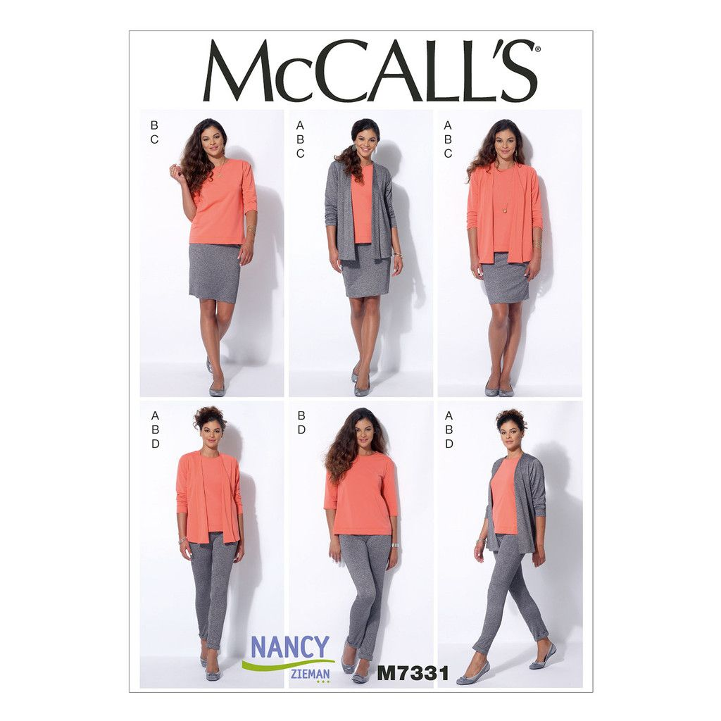 Mccalls 7331 sewing pattern misses cardigan t shirt pencil misses cardigan t shirt pencil skirt and leggings mccalls sewing pattern jeuxipadfo Image collections