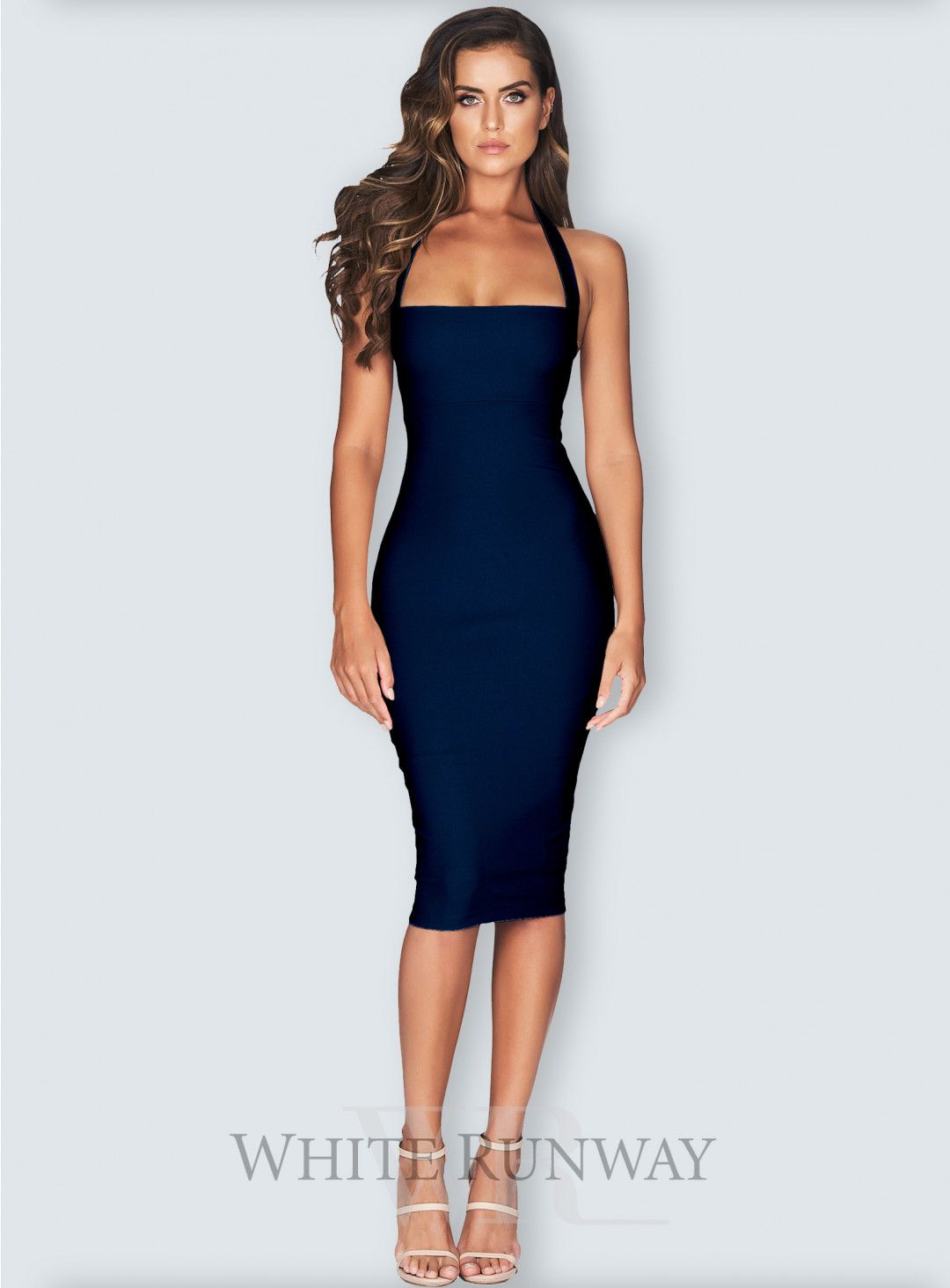 7a51915dbd Boulevard Midi. A sexy bodycon midi dress by Nookie. A halter neck style  with wide straps and button fastening at centre back neck.  bridalshower   nookie   ...