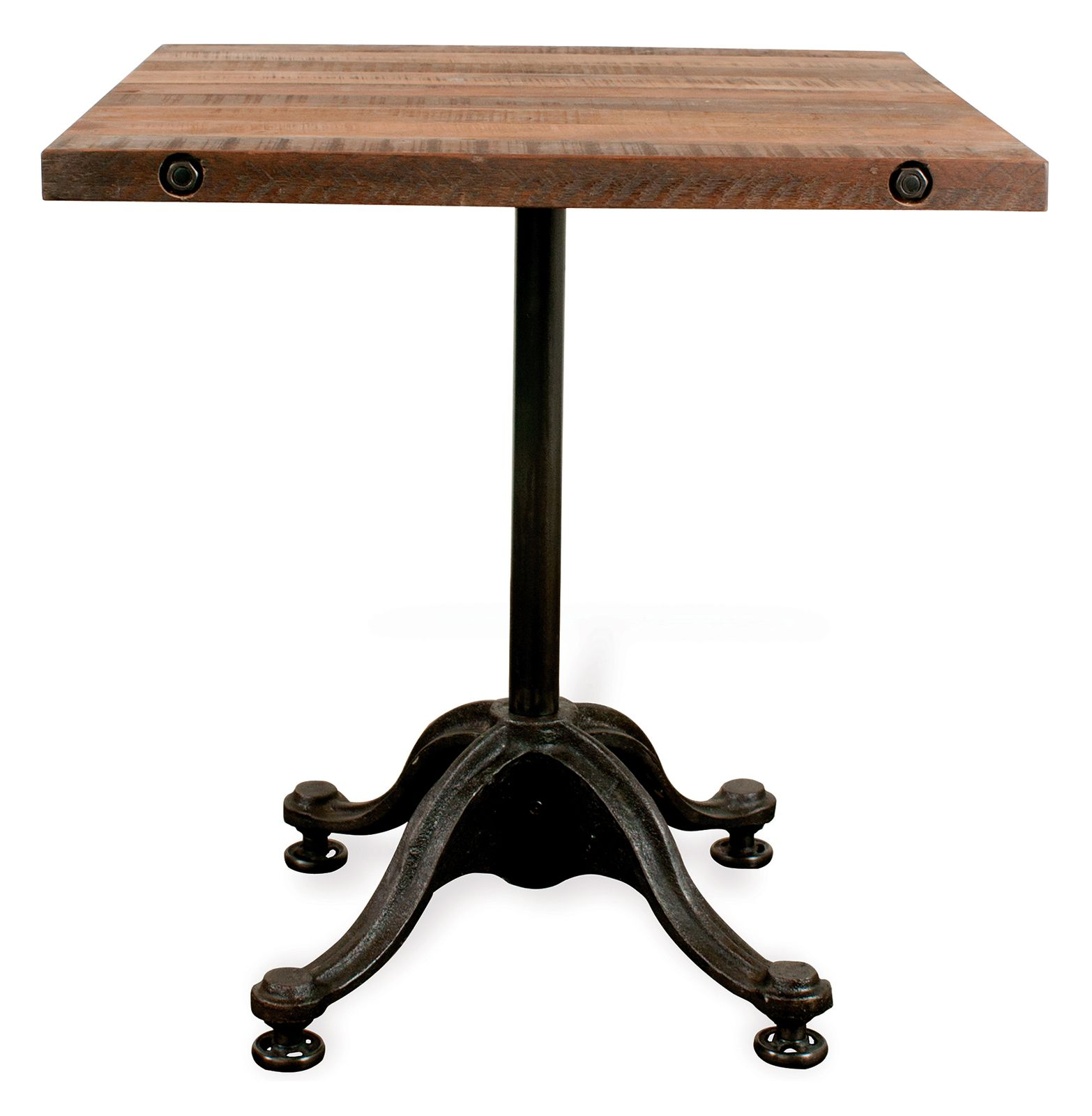 Vr42 Reclaimed Wood Industrial Square Bistro Cafe Dining Table By
