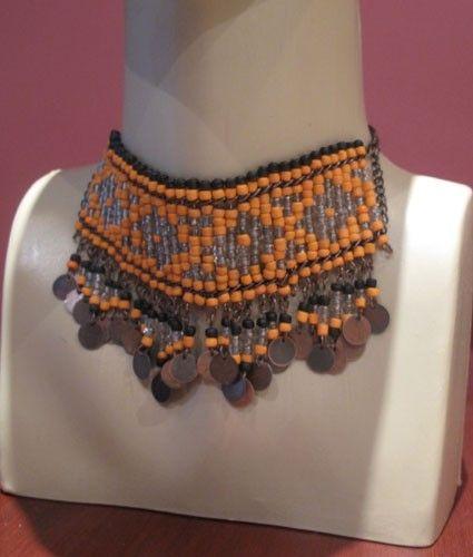 Authentic Ottoman necklaceEthnictangerinebrown by galladesign, $45.00