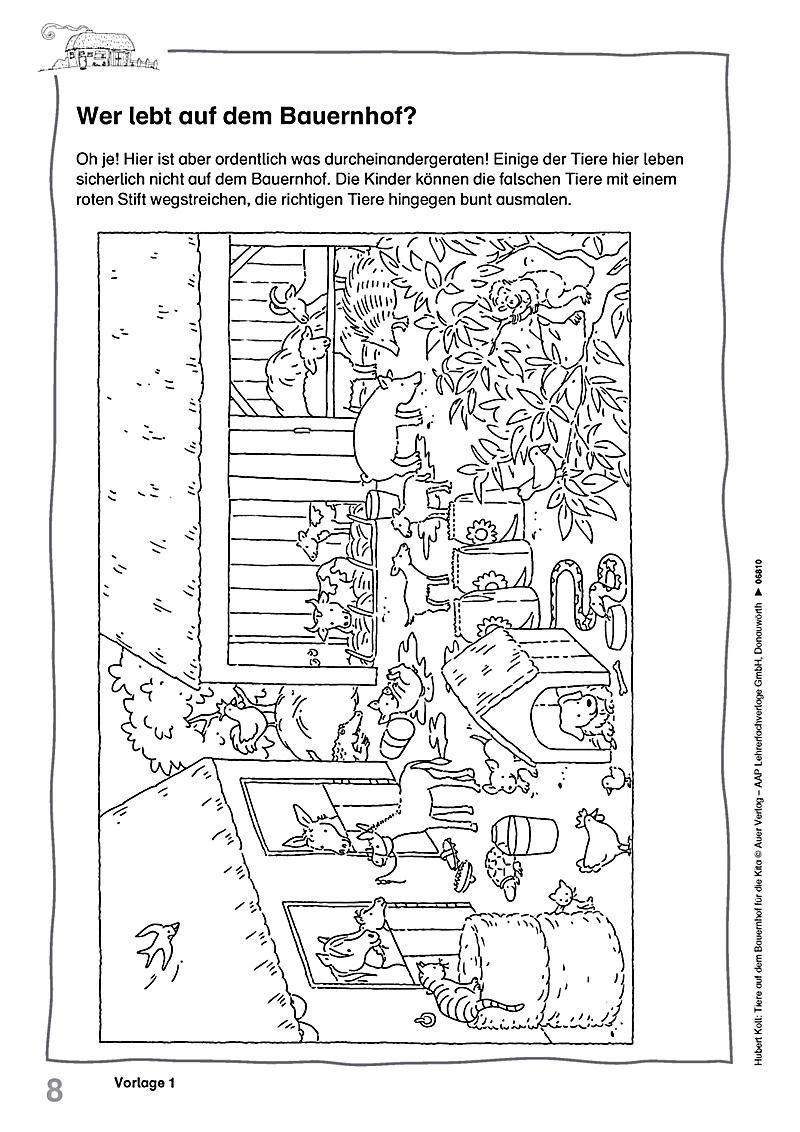 tiere auf dem bauernhof für die kita buch portofrei