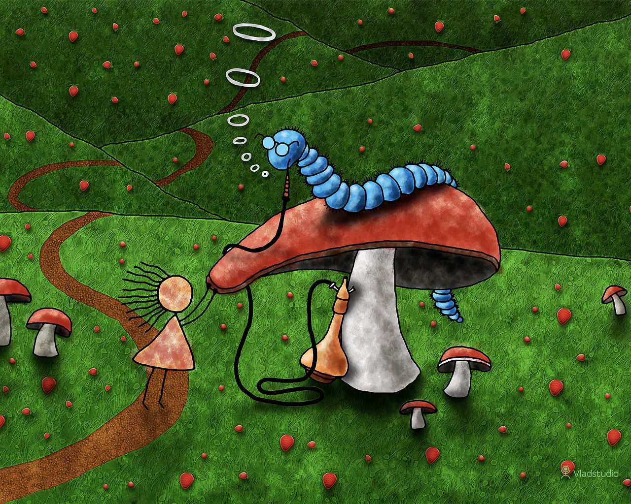 Alice In Wonderland Advice From A Caterpillar Vladstudio