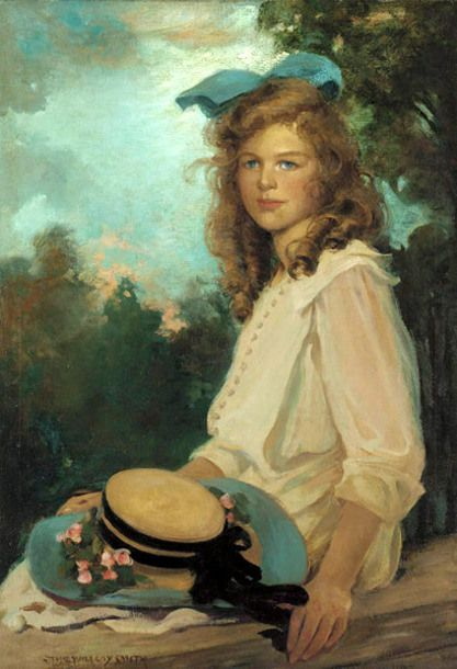 Jessie Willcox Smith (1863 – 1935, American) Bonnie As A Young Girl