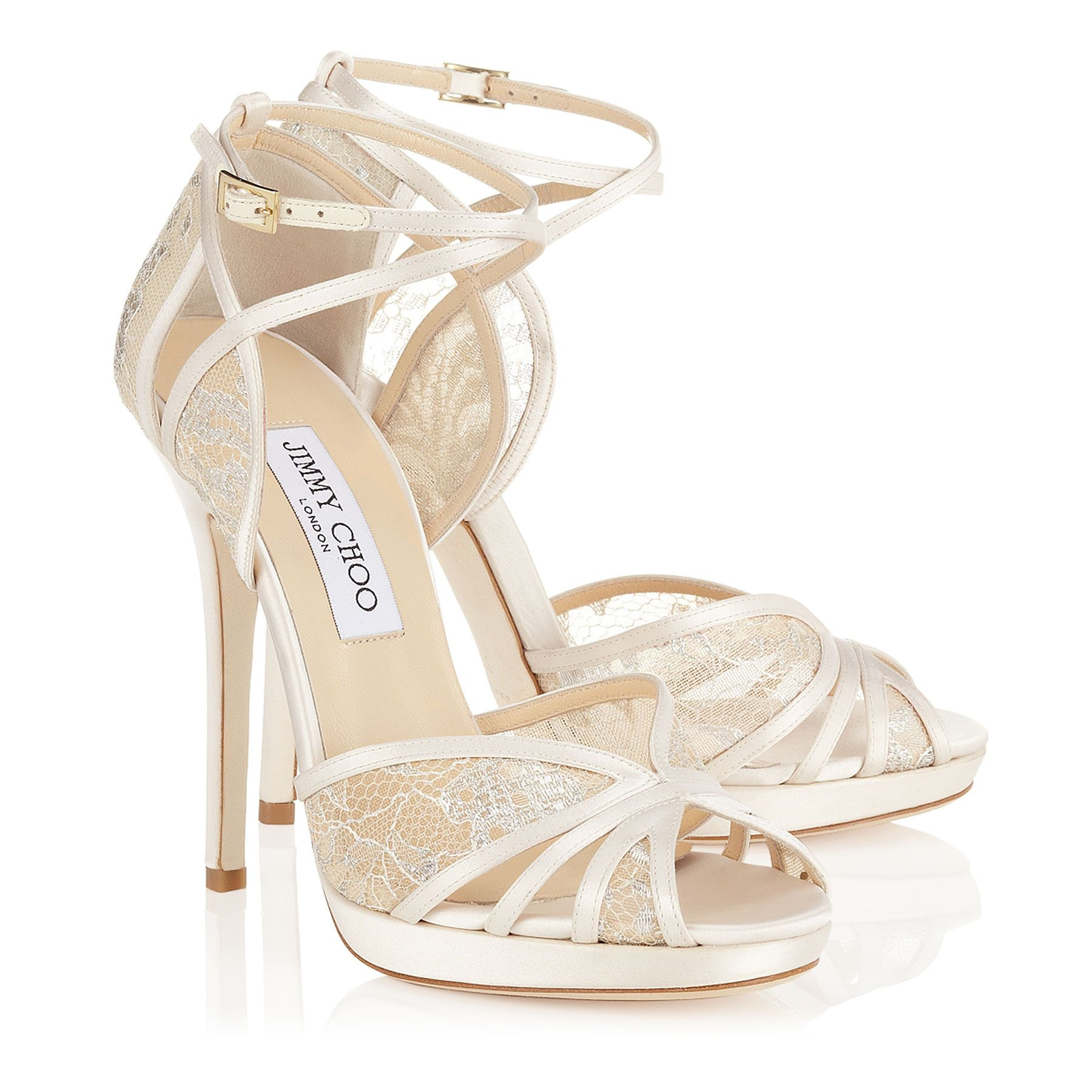 f73c7fd10c3 Fayme Ivory and White Satin Sandals