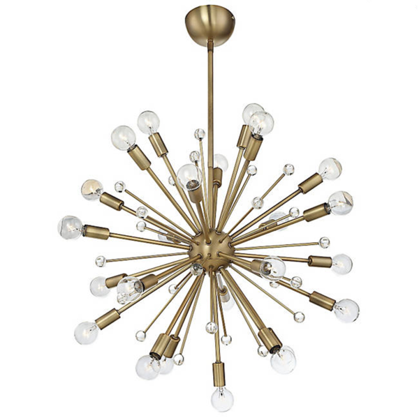 Purchase The Mid Century Modern Sputnik Style Galea Chandelier In Warm Brass