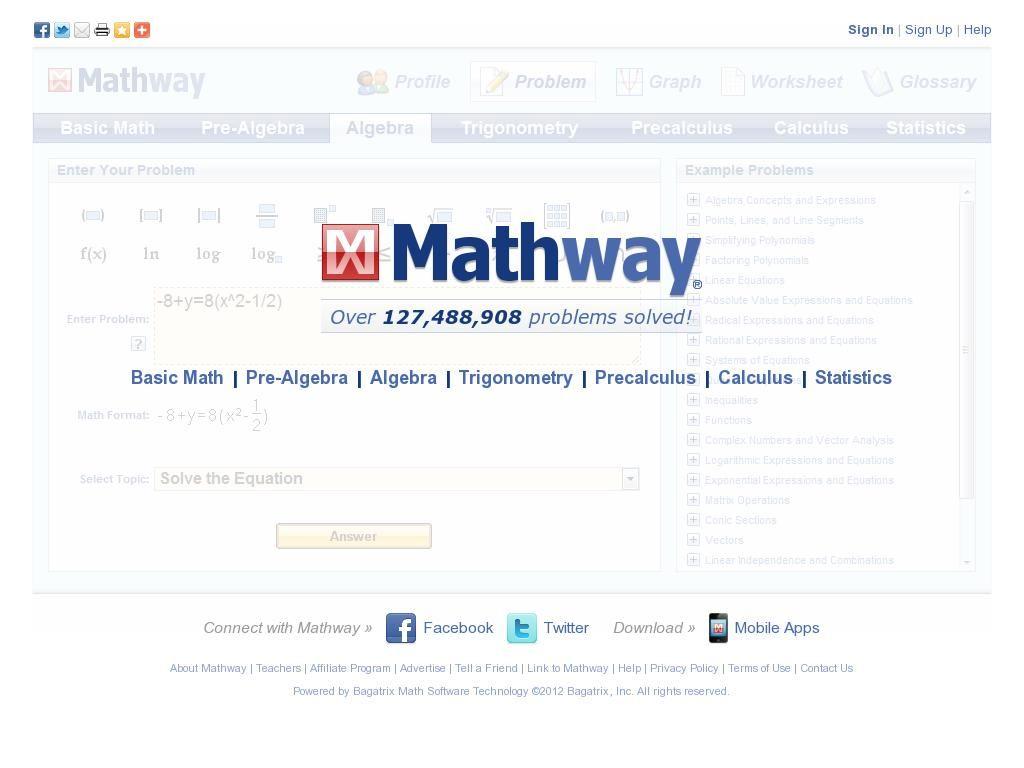 on mathway calculo