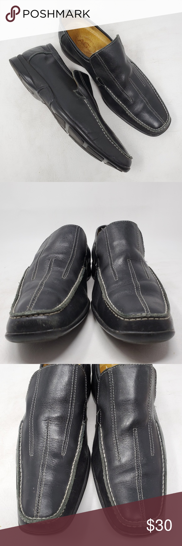 AGL Mens Black Leather Loafers Size 8 D Casual Thank you for stopping in! These are in good preowned condition with minor wear and lots of life left in them!  Please see all pictures as they are the best descriptors.   •Brand: AGL (Attilio Giusti Leombruni) •Style: Loafers •Color: Black •Material: Leather  •Size: US 8 D • Sole: 3 7/8
