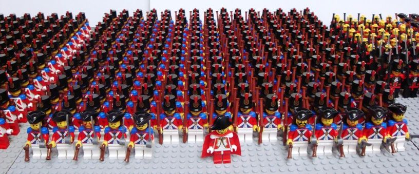 Massive Redcoat Army (500  Minifigures) | Lego Ideas | Pinterest