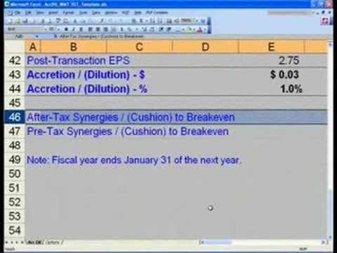 ▷ WST 141 Merger Modeling Basics - Accretion Dilution - YouTube - excel balance sheet template