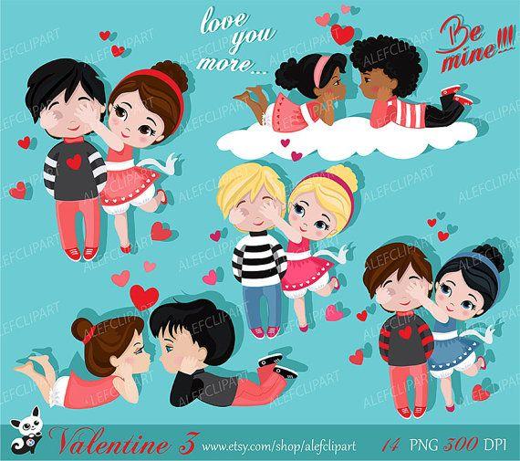 Valentine Kids Clipart 3 My Cute Valentine Digital Clip Art