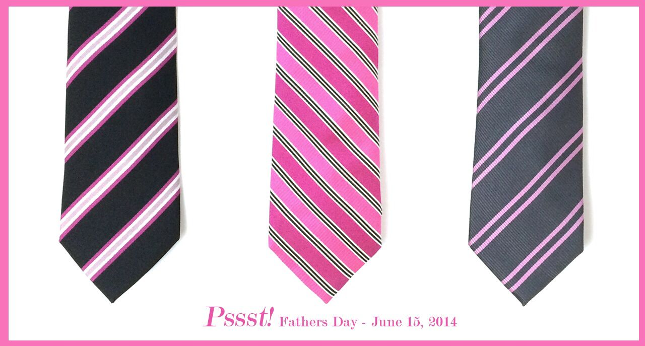 Ties for guys at Thepinkstore.com!