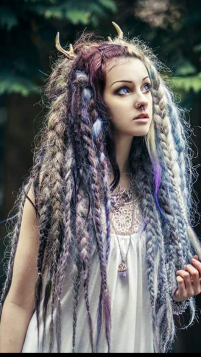 Pin By Isabella Arthur On Wiccan Hair Styles Fantasy Hair Halloween Hair
