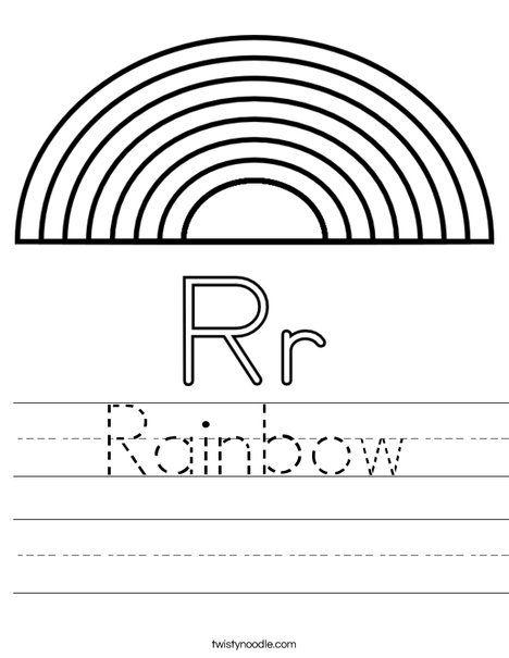R Is For Rainbow Worksheet Kindergarten Worksheets Printable Rainbow Lessons Alphabet Preschool