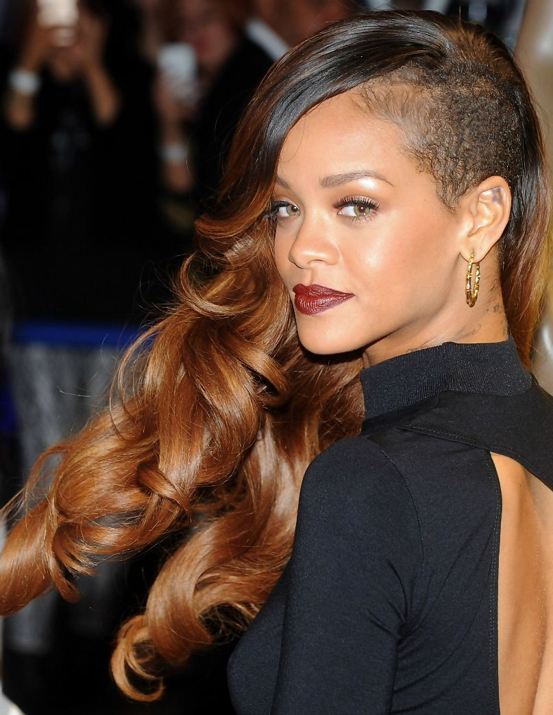 Rihanna ombre dip dyed hair idea
