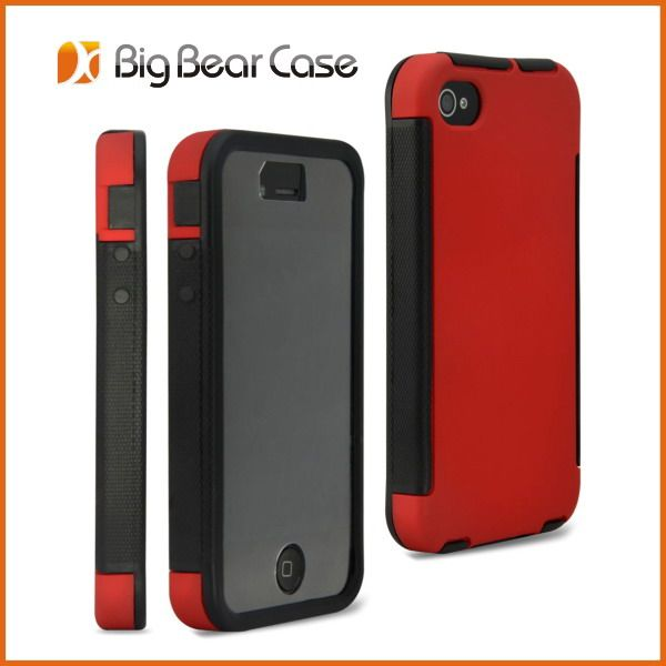 wholesale wood mobile phone case for iphone 4  unique design  with screen saver  OEM