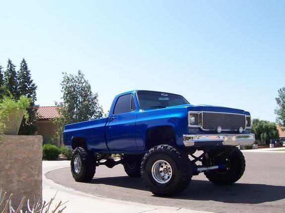 Pretty Blue 1976 Chevy Truck Chevy Trucks Lifted Chevy Trucks