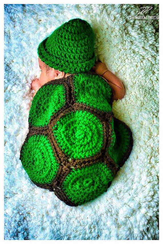 Crochet turttle costume on Etsy, $25.00