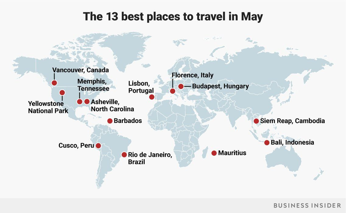 Best Places To Travel In May