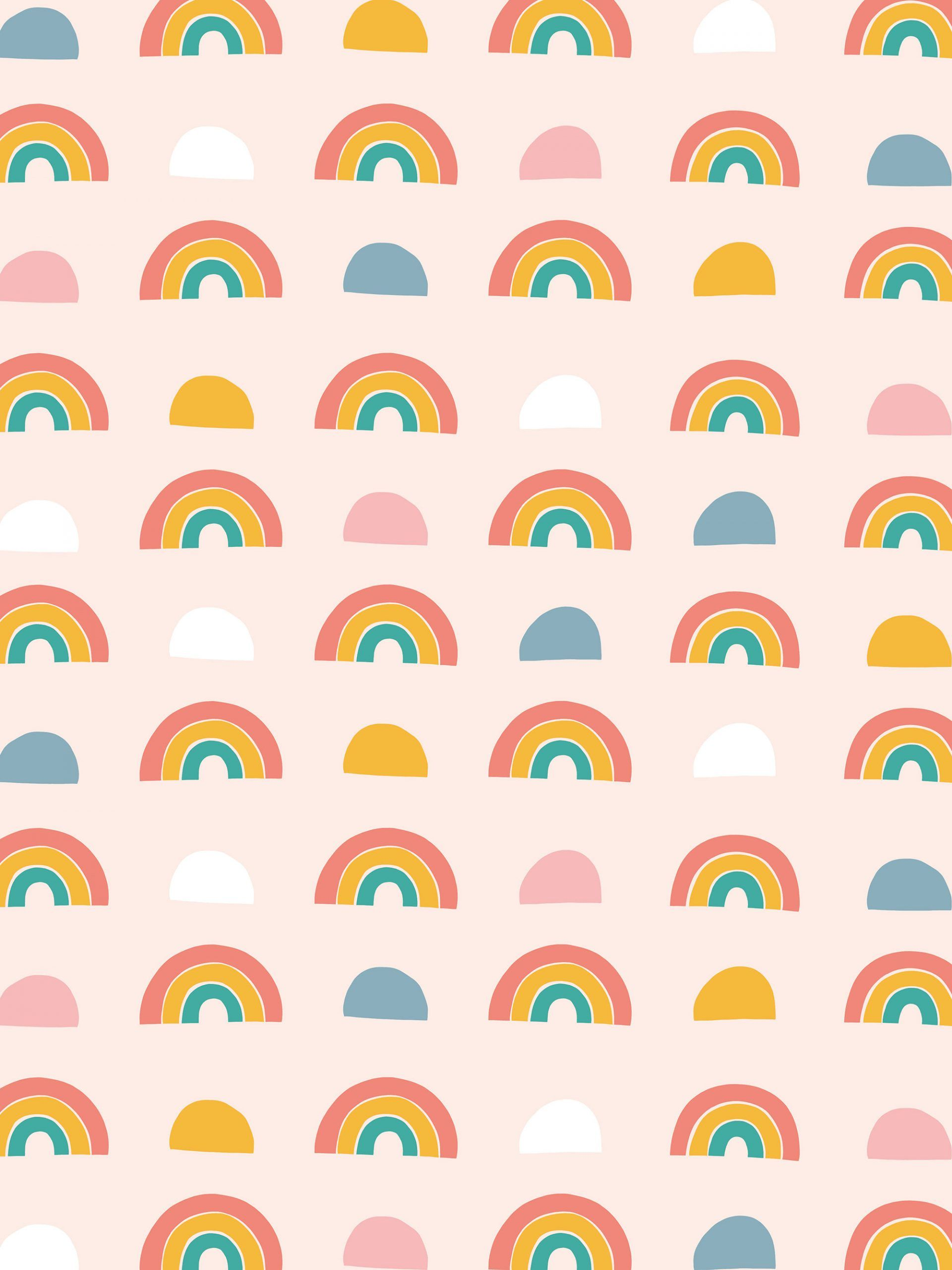 Rainbow Patterned Desktop Tablet And Phone Wallpaper In 2020 Rainbow Pattern Wallpaper Phone Wallpaper