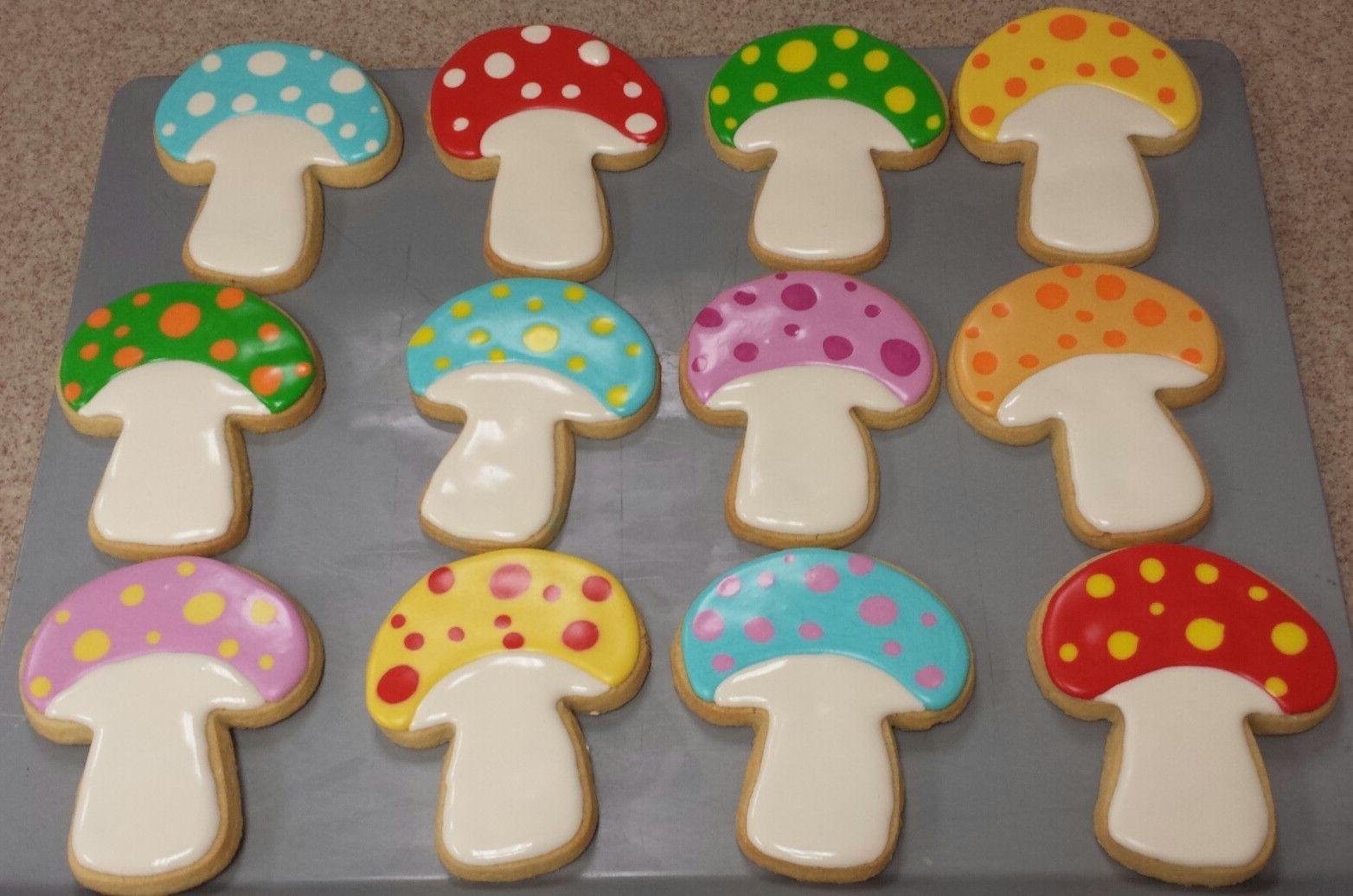 One Dozen Mushroom Cookies