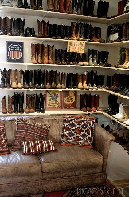 Check out this boot collection. Wow. I would love this and would ...