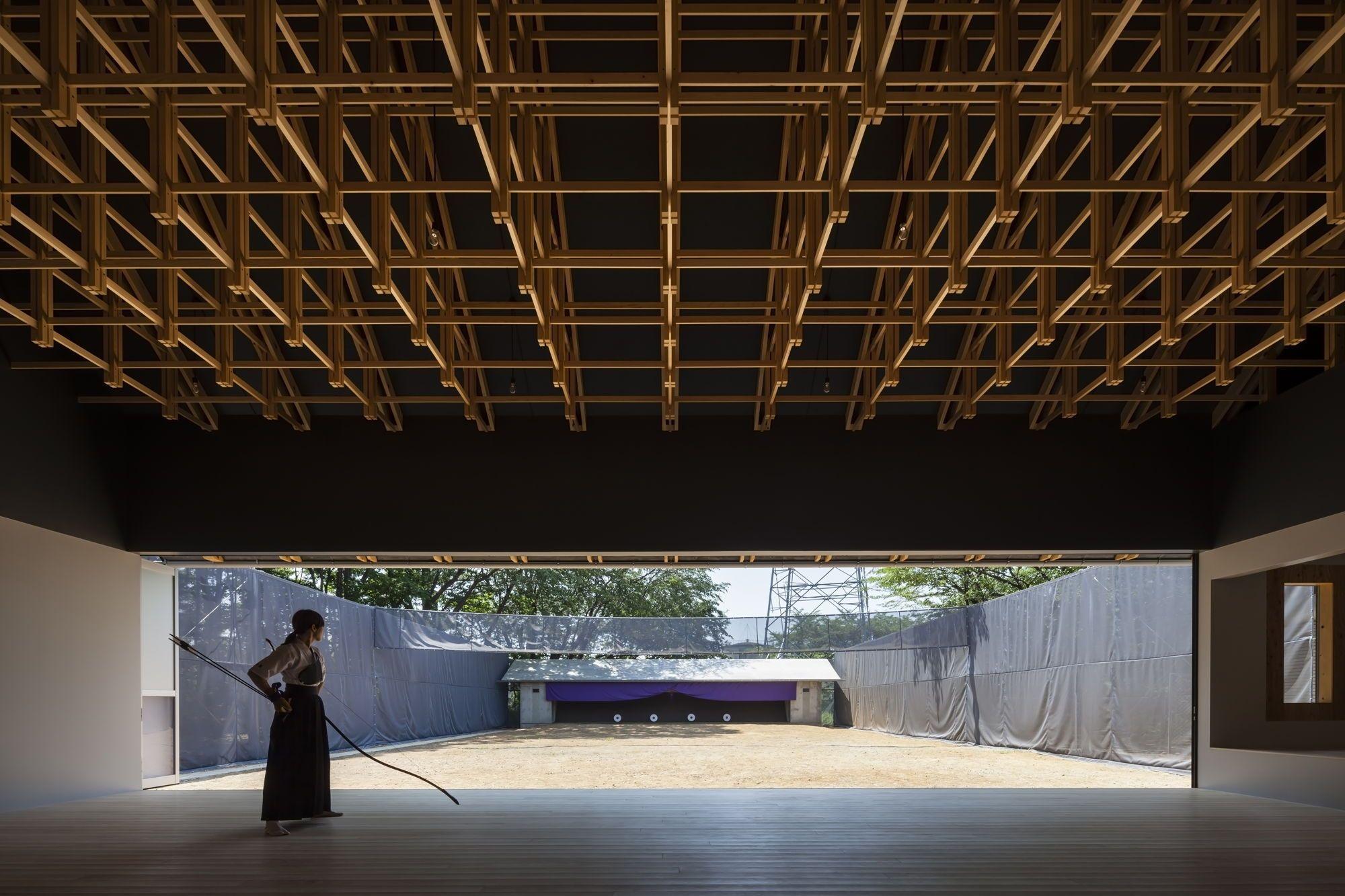 Japanische Architektur fachwerk auf japanisch zwei sporthallen in tokio japanische